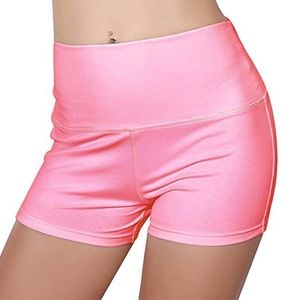 Pants - Pink yoga barbie shorts rave festival gym workout